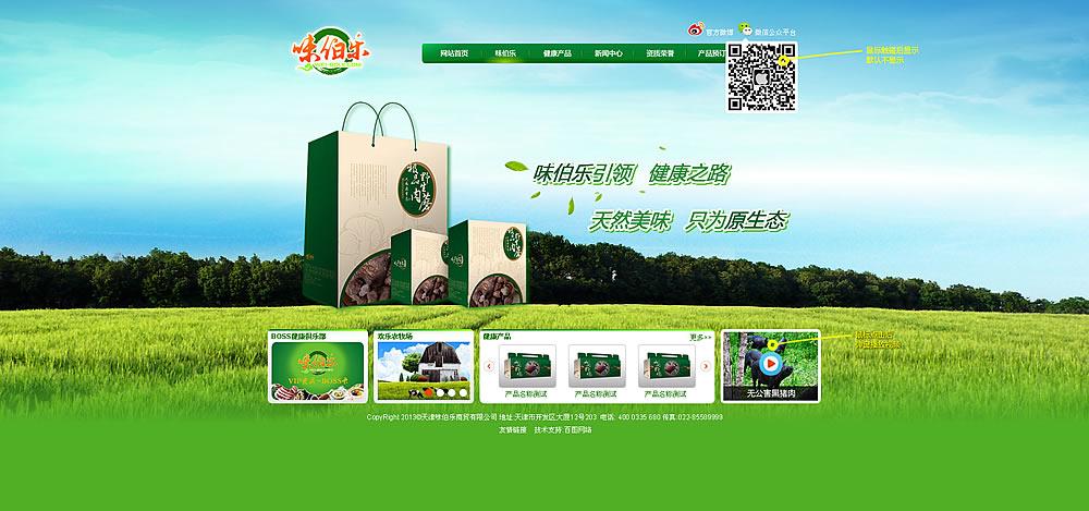 食品公司网站首页效果图